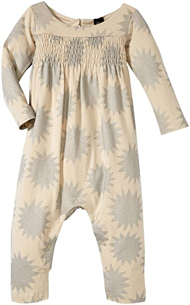 122636078dfd Amazon.com  Tea Collection Baby Girls  Estrella Smocked Romper  Clothing
