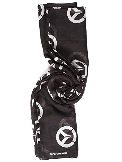 171987976 Amazon.com: JINX Overwatch Declaration Scarf (Black, 72