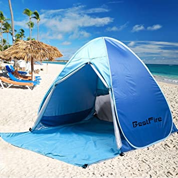 BestFire Outdoor Automatic Pop Up Instant Portable Cabana Beach Tent Anti  UV Canopy Sun Shade Sport