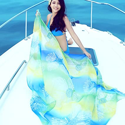 ee782c4c669b1 Image Unavailable. Image not available for. Color  Fashionclubs Sarong  Skirt Beach Pareo Wrap ...