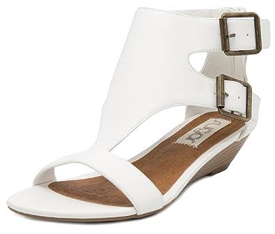 94563f1f826 Sugar Womens' Wigout Demi Wedge T-bar Open Toe Buckle Sandal