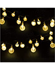 Catena Luminosa, Mr.Twinkelight 4.5M 30LED Luce Stringa Solare di Crystal Globe, Luce Esterno Ideale per Decorazioni di Natale, Feste, Vacanze, Cortili, Pergole, Impermeabile IP65 (Bianco caldo)