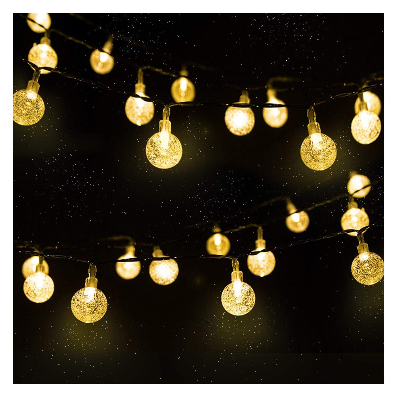Catena Luminosa, Luce Stringa Solare di Crystal Globe, Mr.Twinkelight Luce Esterno, Stringa fata luce a energia solare, Luce della Stringa Solare, 4.5M 30LED Solari Luci Decorative Stringa Led a Sfera, Illuminazione per Giardino, Ideale per Decorazioni di