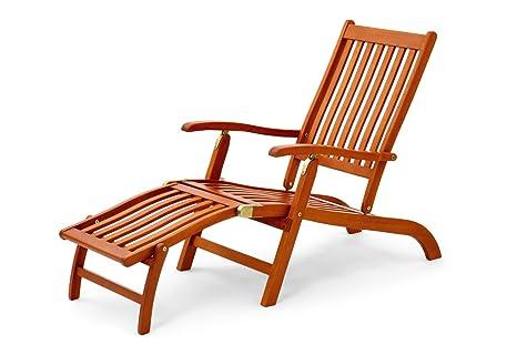Sedia A Sdraio In Legno : Belardo sedia sdraio in legno di eucalipto certificata fsc amazon