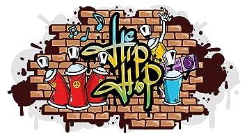 Wandtattoo Jugendzimmer Hip Hop Graffiti Style Wandausbruch