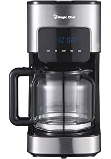 Magic Chef MCSCM12SS Coffee Maker 8.6X 6.6X 12.9, Stainless Steel