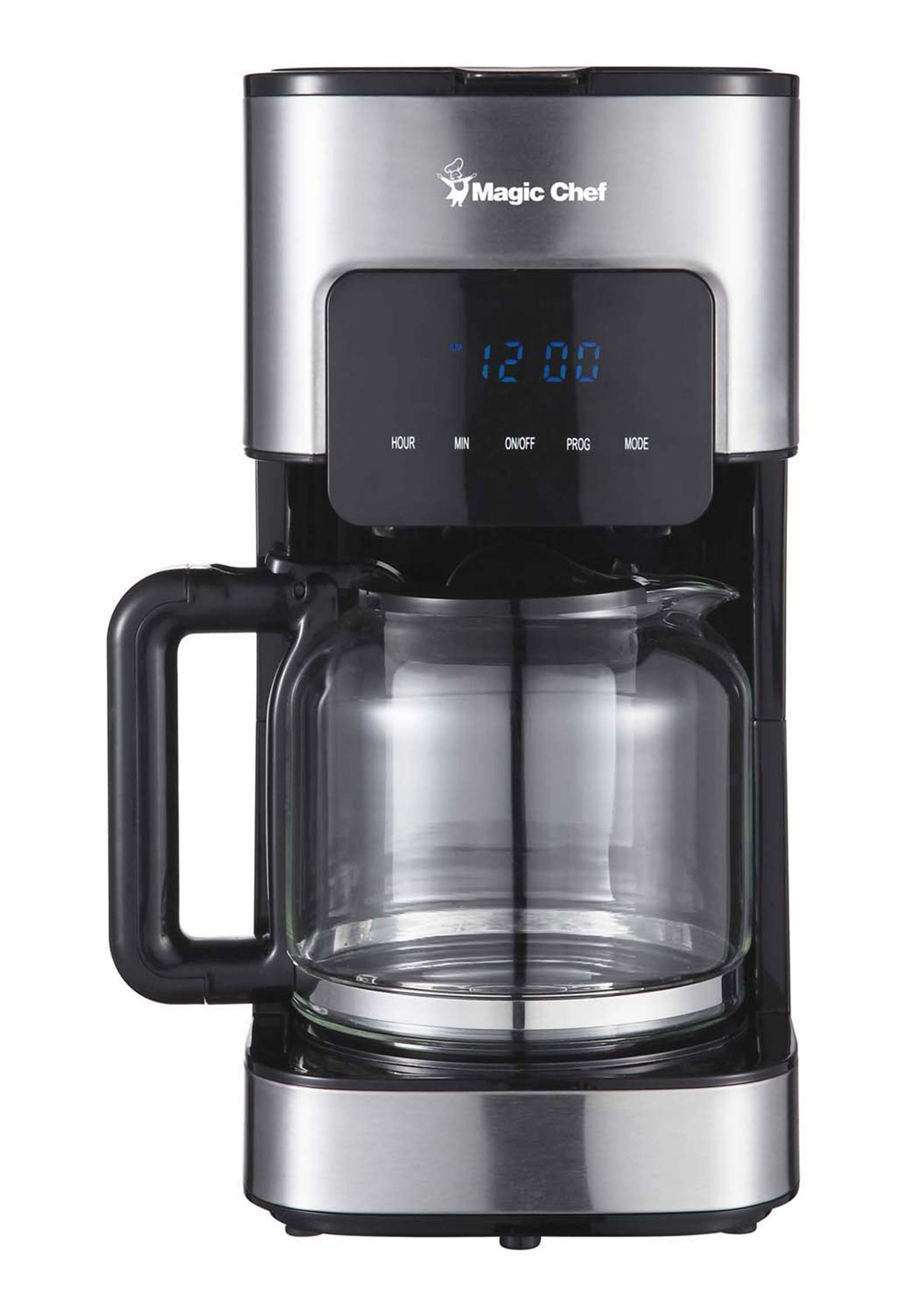 Magic Chef MCSCM12SS Coffee Maker, 8.6X 6.6X 12.9, Stainless Steel