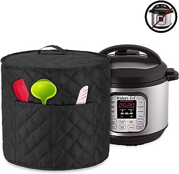 Luxja Cubierta a Prueba de Polvo para Instant Pot IP - DUO60, Negro Acolchado: Amazon.es: Hogar