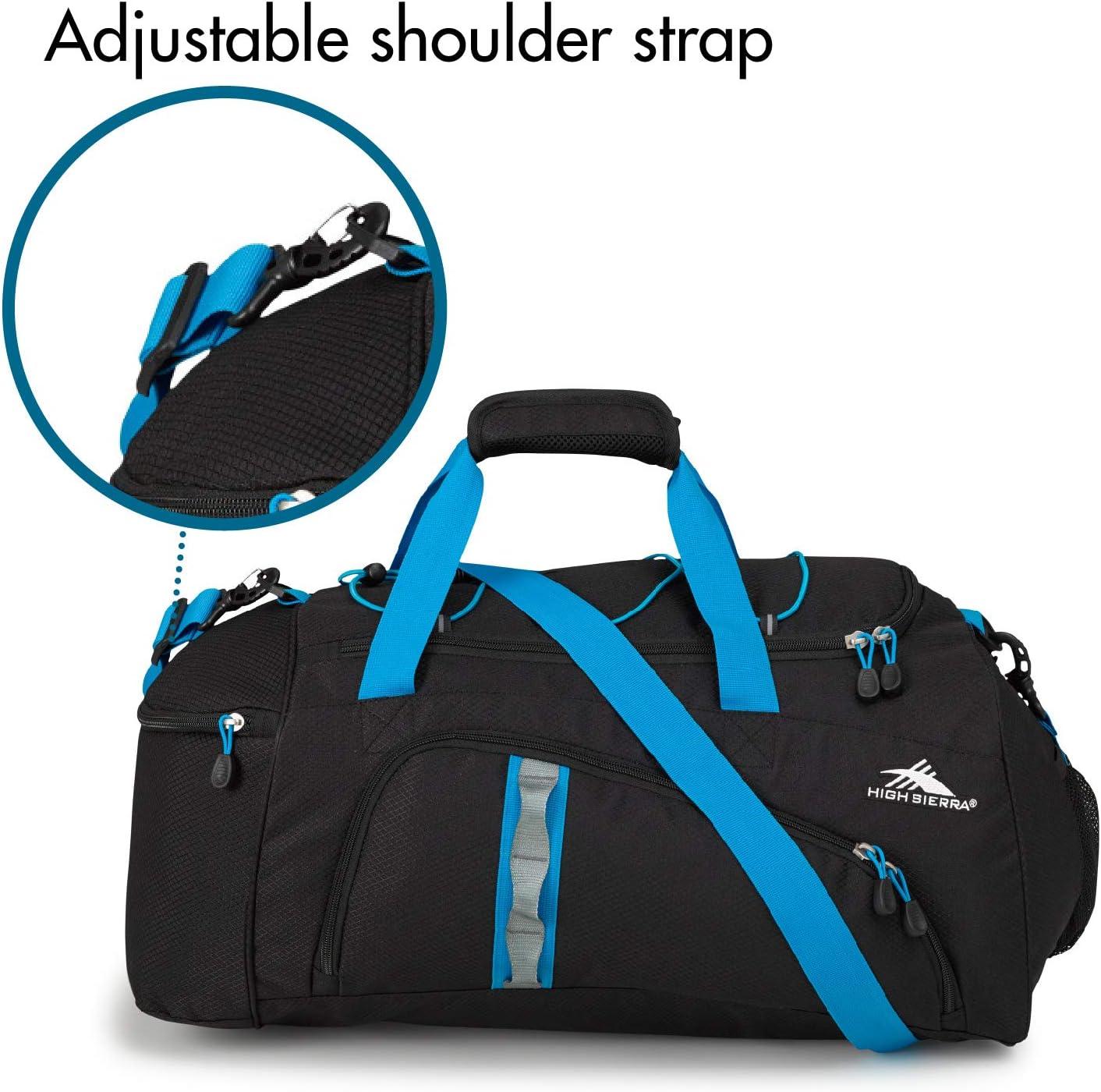 High Sierra Cross Sport 2 Duffels Jitter Duffel Bag Cargo Shoulder Bag for Men