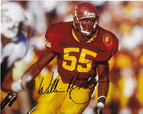 lowest price 5749f d27d9 Signed Willie McGinest Photograph - USC TROJANS 8x10 ...