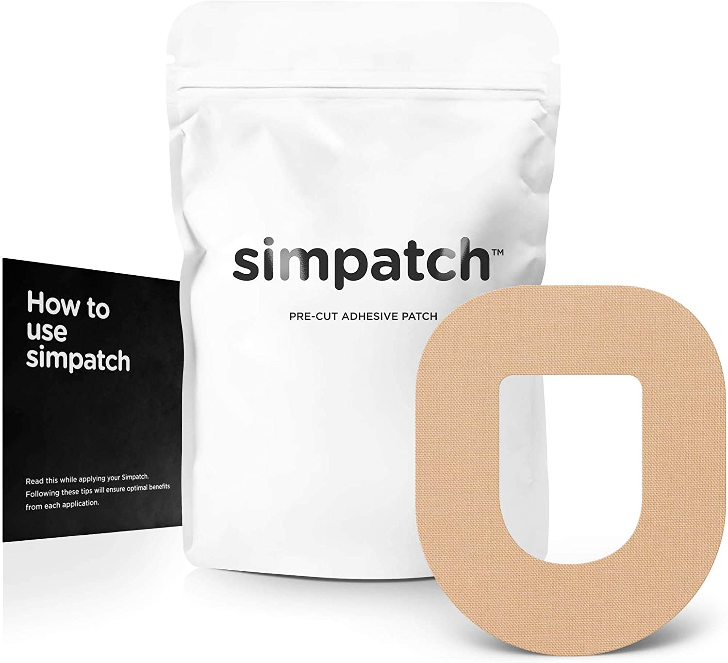 SIMPATCH – OmniPod Adhesive Patch (25-Pack) – Waterproof Adhesive, CGM Tape – Multiple Color Options