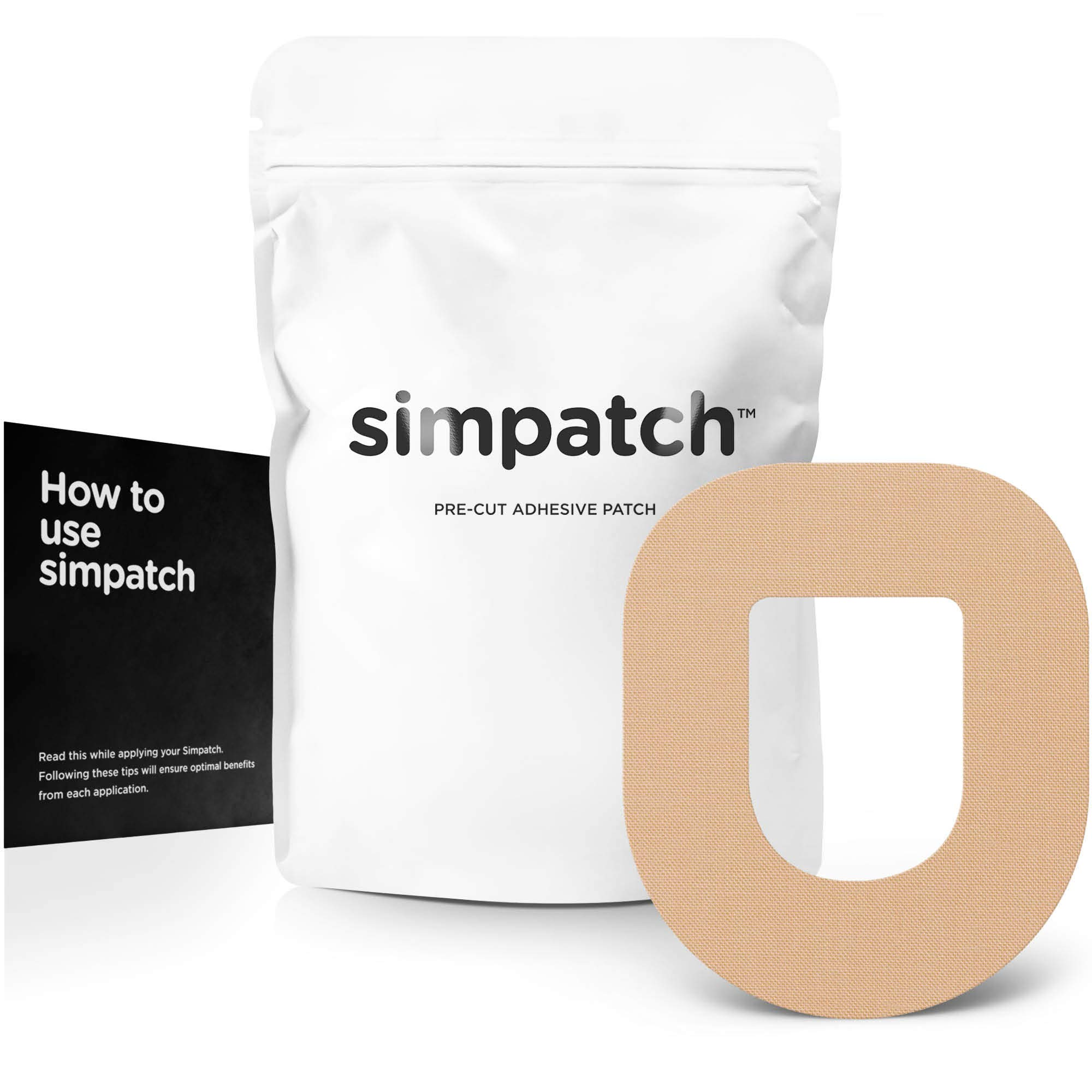 SIMPATCH Adhesive Patch for OmniPod - Pack of 25 - Multiple Colors Available (Beige) by SIMPATCH