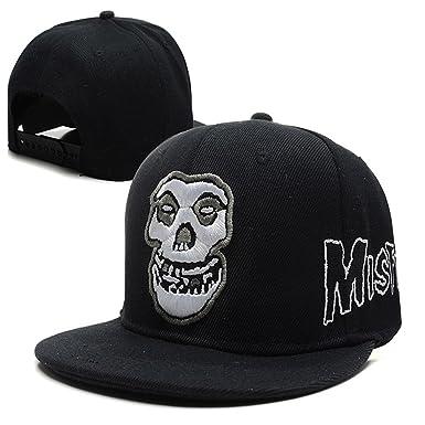 6c773016fd2 MISFITS Band snapback Flat Bill Adjustable Hip Hop Fans Cap Black One Size