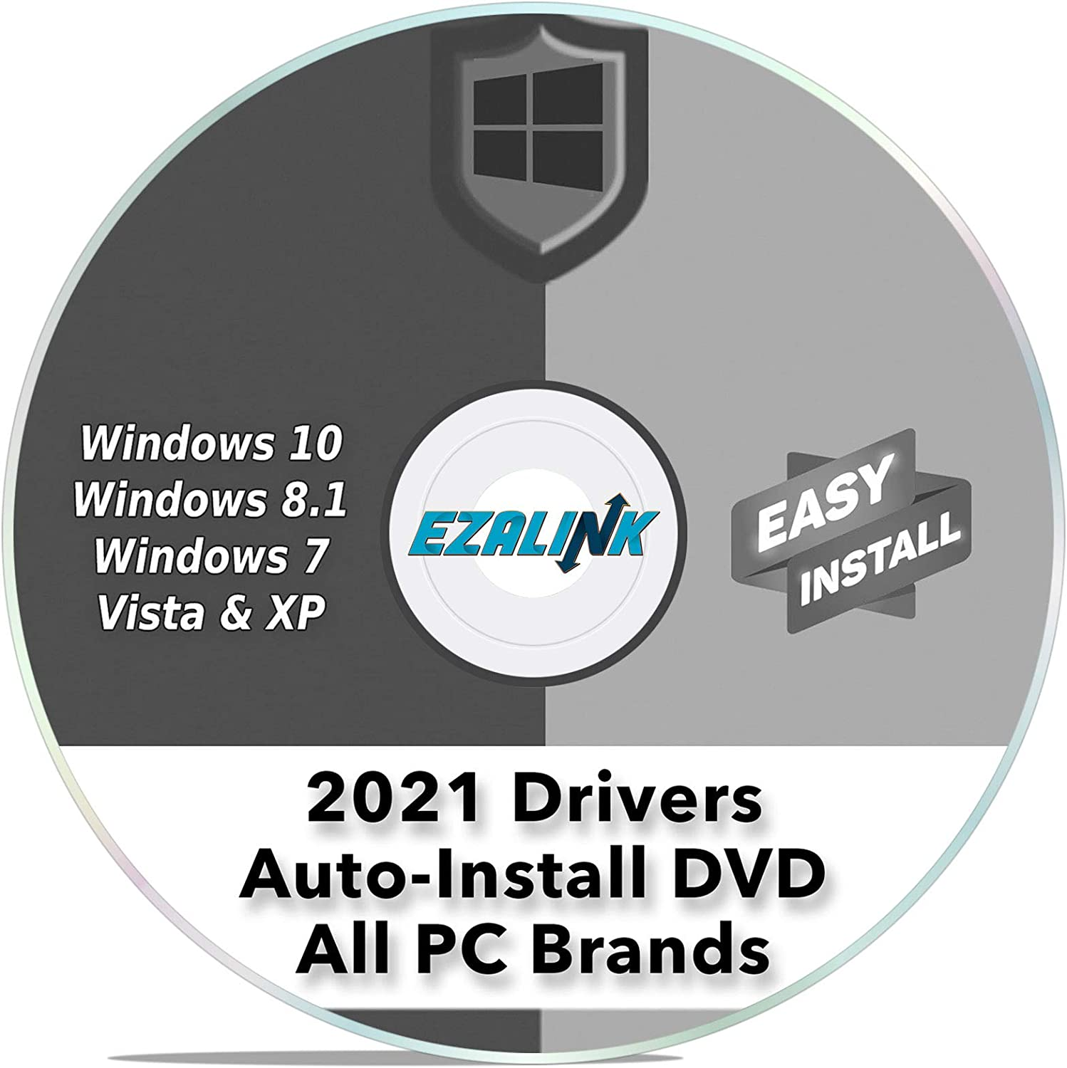 Windows Driver Installation Automatic Install Software DVD for ANY PC Computer (Dell, HP, Asus etc) Easy Update Disc