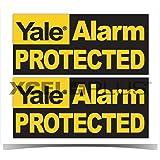 """Yale HSA3000 - Pegatinas para ventana de seguridad con texto en inglés """"Yale Alarm Protected"""""""