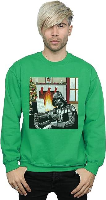 Star Wars Hombre Darth Vader Christmas Piano Camisa De Entrenamiento: Amazon.es: Ropa y accesorios