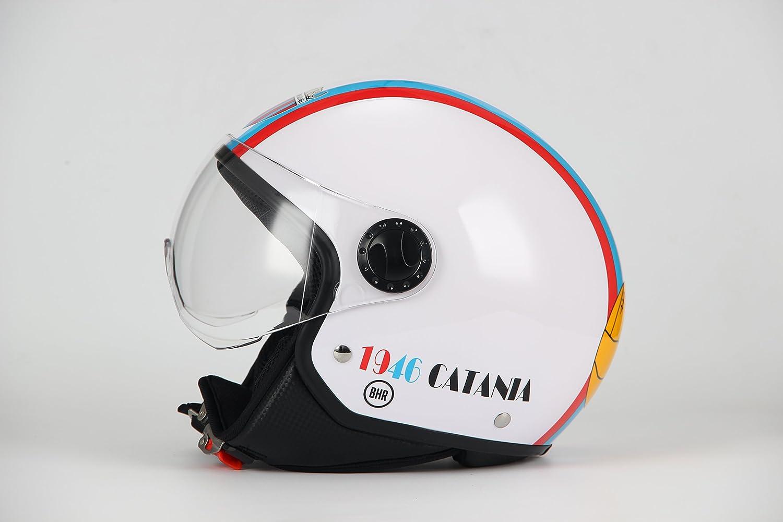 color blanco talla XS BHR 67994/Casco Demi-Jet Linea One 801 54/cm Tama/ño XS Catania F/útbol Blanco