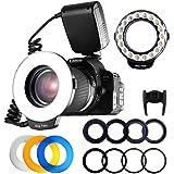 FOSITAN 18 LED Macro Ring Flash Light Nikon Canon Camera DSLR LCD Display Power Control 8 Adapter Rings 4 Light Diffuser Nikon Canon Others Hot Shoes DSLR Camera