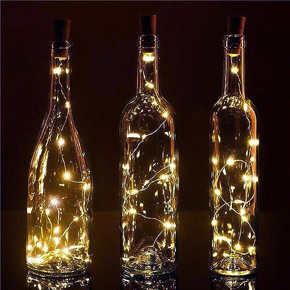 Marbeine 10 Piezas Luz de Botella,Lámparas Decoradas, Luz de bricolaje,20 led luces para botella (Blanco Cálido): Amazon.es: Iluminación