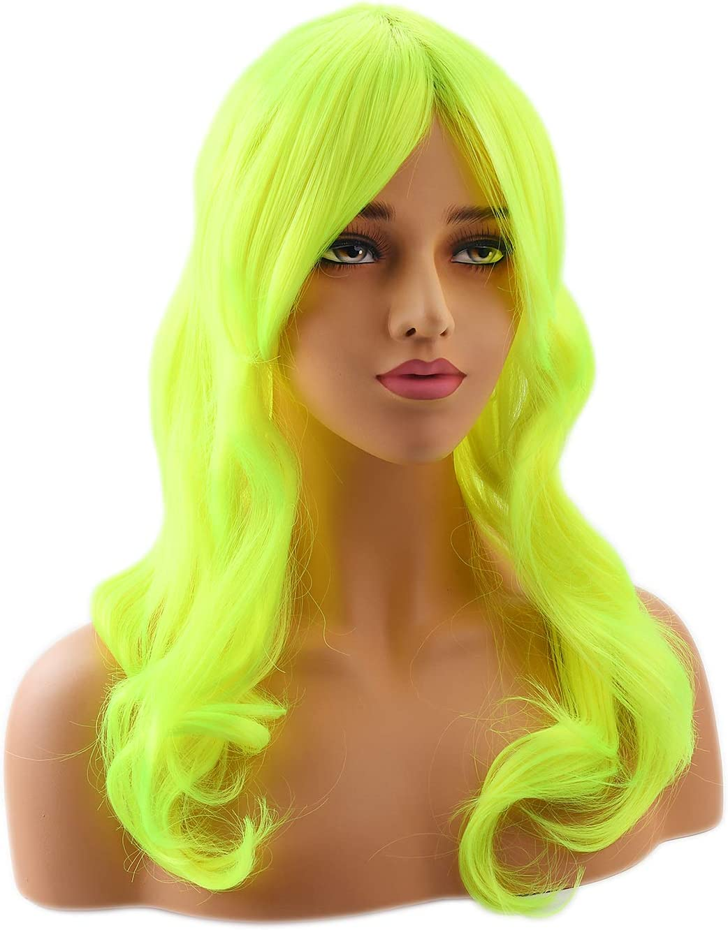 L.Blue# Neitsi 22 225g 100/% Korean Fiber Curly Cosplay Long Synthetic Hair Wigs Womens Girls Full Head Wigs