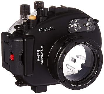 Polaroid - Carcasa impermeable para cámara Olympus EP5 con lente ...