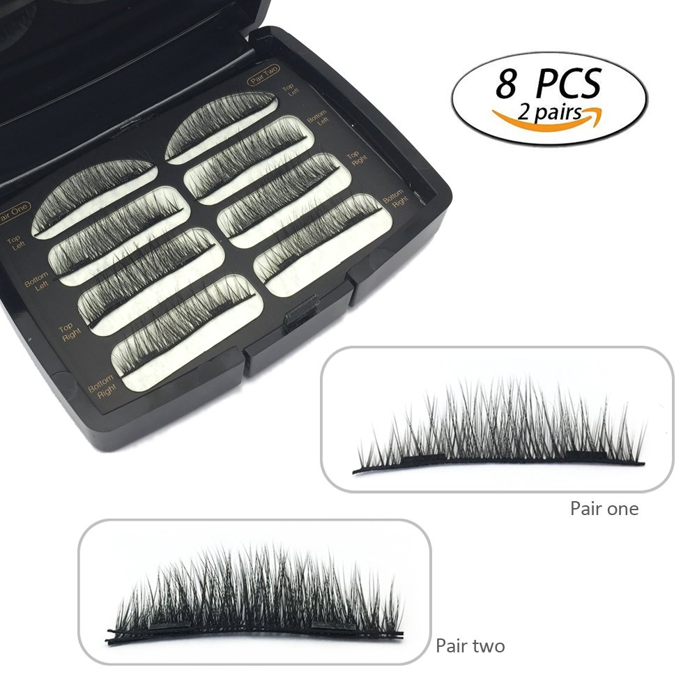 3D Mink Thick Magnetic Eyelashes Siberian Mink Fur False Eyelashes 3D Mink Magnet Lashes No Glue