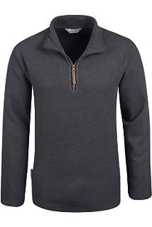 New Mountain Warehouse Mens Half Zip Textured Micro Fleece Breathable Fabric