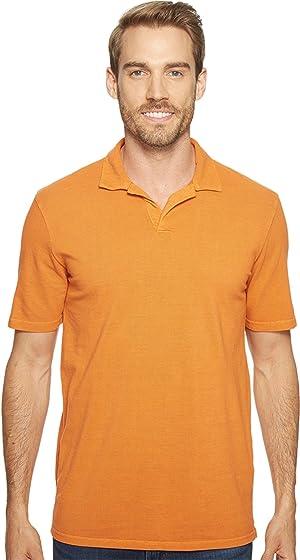 Mod-o-doc Men's Pescadero Short Sleeve Johnny Collar Polo Tropicana Shirt