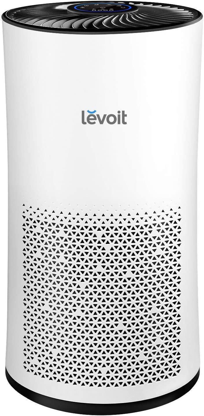 LEVOIT Air Purifier for Home Large Room with True HEPA Filter, Air Cleaner for Allergies, Pets, Smokers, Mold, Pollen, Dust, Quiet Odor Eliminators for Bedroom, 538 Sq. Ft, LV-H133, White (Renewed)