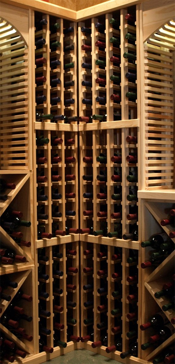 Wine Racks America Redwood 36 Bottle Stackable. 13 Stains to Choose From! by Wine Racks America