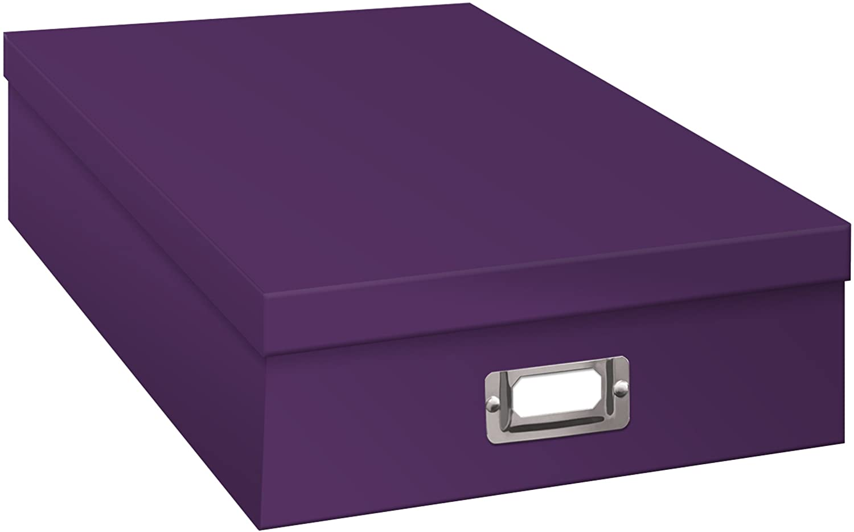 Pioneer Scrapbooking Storage Box with Printed Designs Ferns