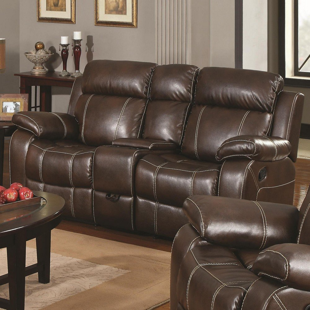 Amazoncom Double Gliding Loveseat w Cup Holders by Coaster