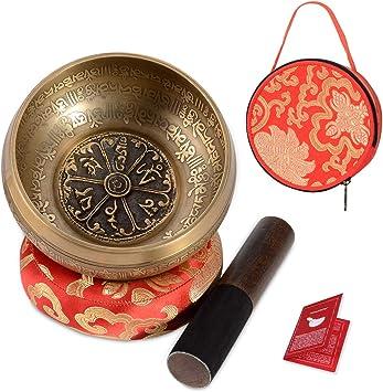 Amazon.com: SHANSHUI juego de cuencos tibetanos para cantar ...