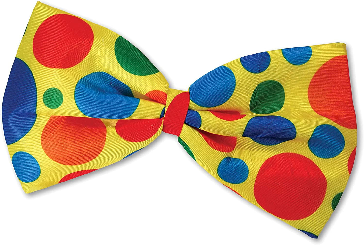 SHATCHI Bow Tie Clow Clown Jumbo pajarita unisex-adulto, talla única, accesorios para disfraces Circus World Book Day, color amarillo (Gifts 4 All Occasions Ltd 11667)