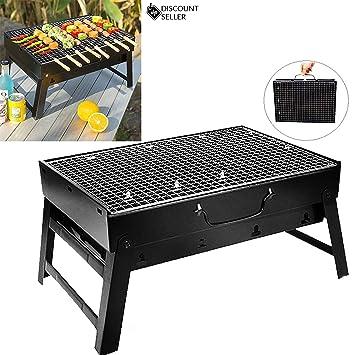 discountseller gran al aire libre de acero inoxidable barbacoa estufa barbacoa plegable de carbón vegetal hogar Thickened Portable horno, 74 * 33.5 * 70 cm ...