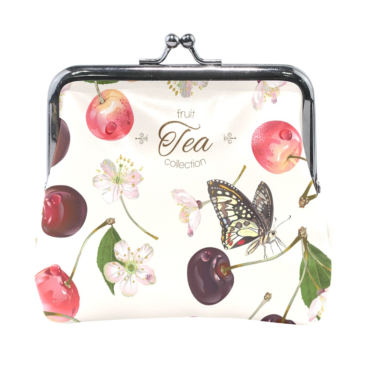 ALIREA Sweet Cherry Fruit Leather Coin Purse snap Closure Clutch Coin Wallet