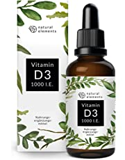 Vitamin D3 - Laborgeprüfte 1000 I.E. pro Tropfen - Preis-Leistungs-Sieger 2018* - 50ml (1750 Tropfen) - In MCT-Öl aus Kokos - Hochdosiert, flüssig und hergestellt in Deutschland