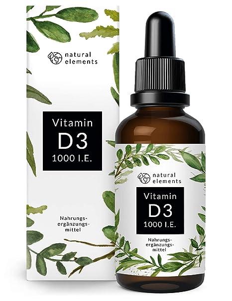 Vitamin D3 - Laborgeprüfte 1000 I.E. pro Tropfen - Preis-Leistungs-Sieger 2019* - 50ml (1750 Tropfen) - In MCT-Öl aus Kokos -