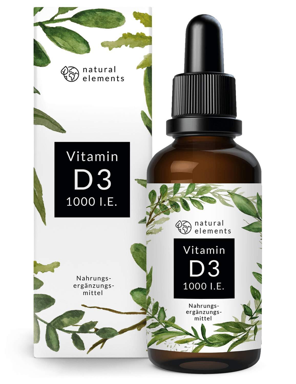1b3fe37b6054e2 Vitamin D3 - Laborgeprüfte 1000 I.E. pro Tropfen - Preis-Leistungs-Sieger  2018  - 50ml (1750 Tropfen) - In MCT-Öl aus Kokos - Hochdosiert