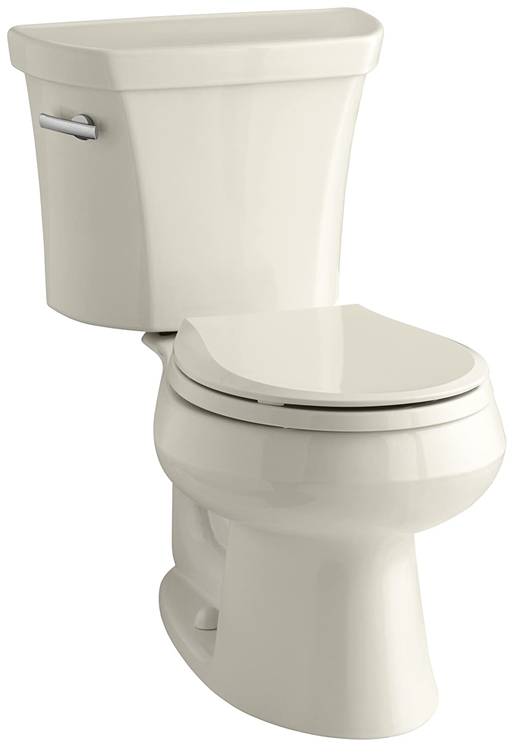 80%OFF Kohler K-3977-47 Wellworth Round-Front 1.6 gpf Toilet, Almond