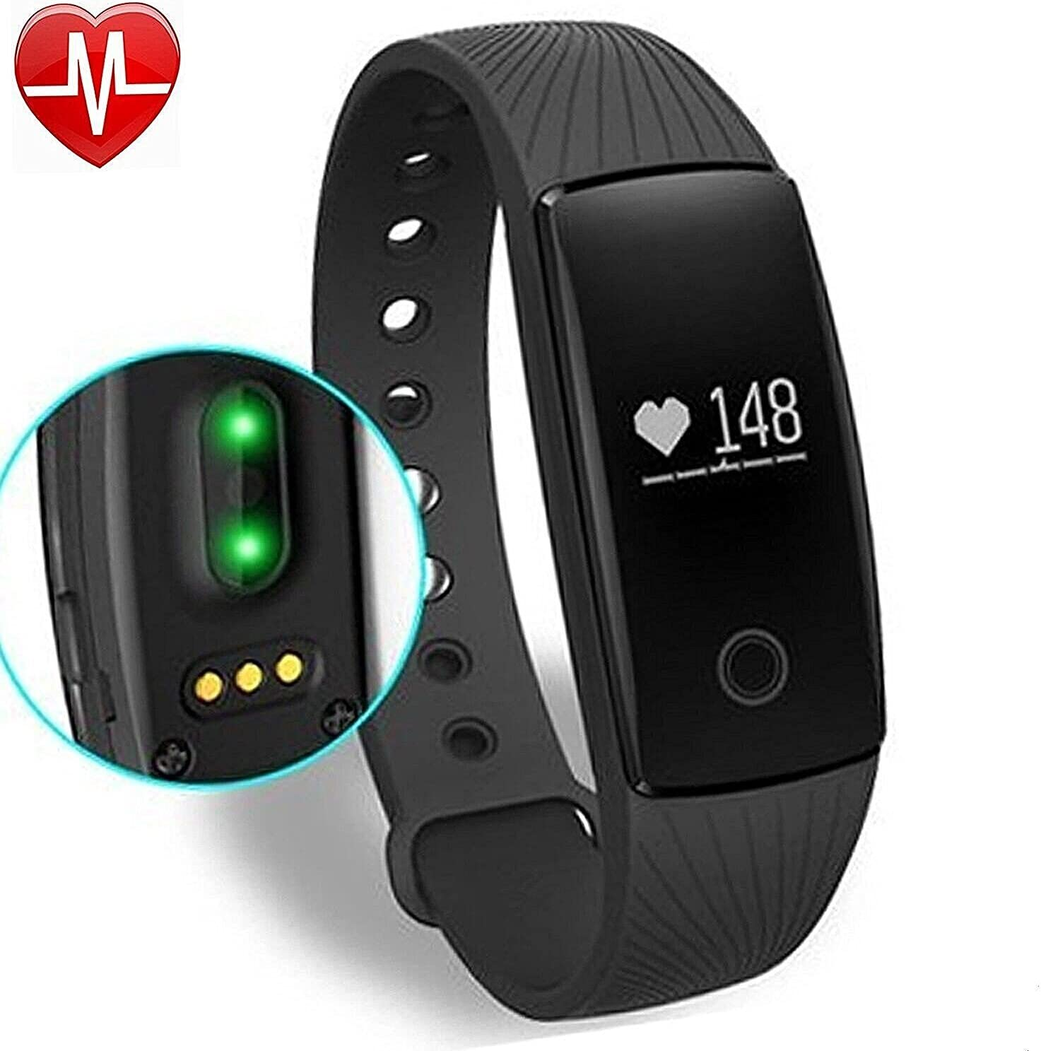 Willful Fitness Tracker with Heart Rate Monitor, SW321 Activity Tracker Smart Bracelet Smartwatch Pedometer with Step Calorie Counter Sleep Monitor ...
