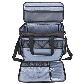 luxja máquina de coser bolsa de transporte, bolsa para accesorios de costura para máquina de