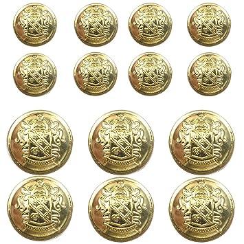 Amazon.com: Juego de 14 botones de metal Blazer para Blazer ...
