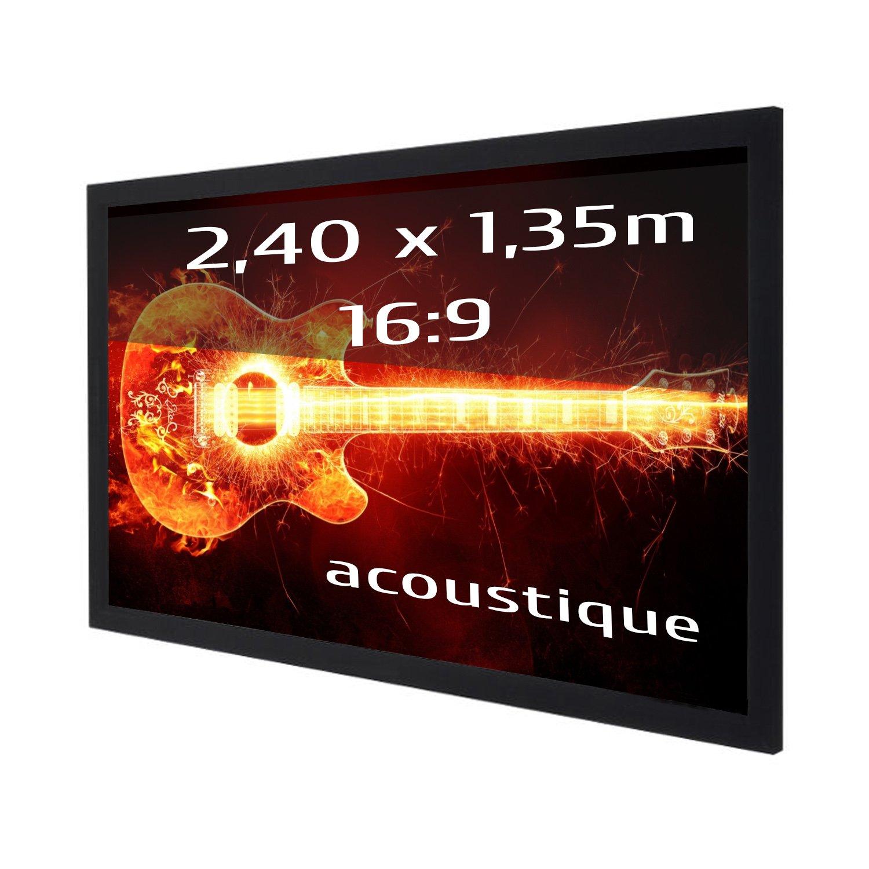 Pantalla de proyección fija con marco 240x135 cm (16/9)- Tela ...