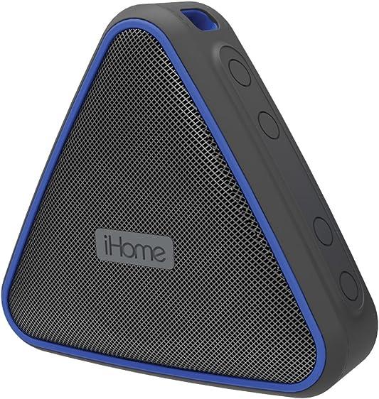 iHome iBT37BLC Portable Waterproof Rechargeablebluetooth Speaker with Speakerphone