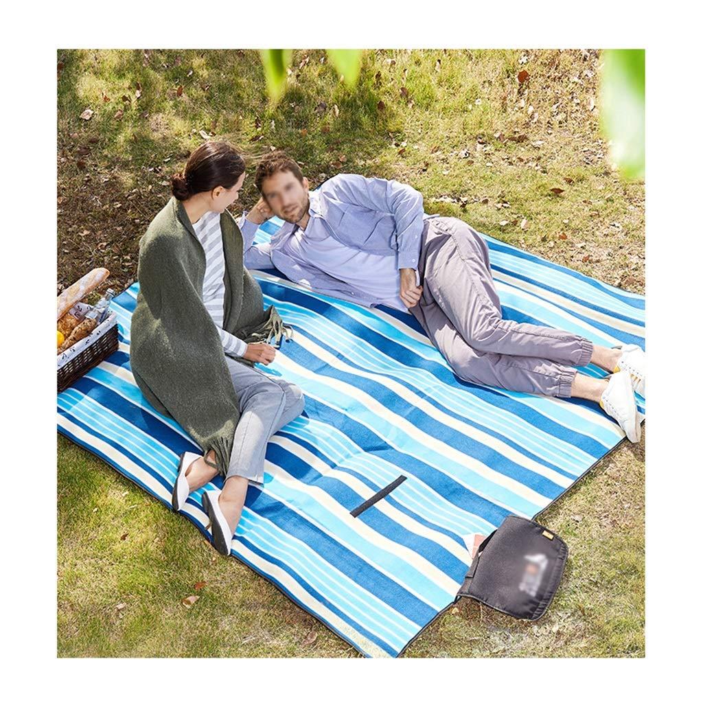 Picknickmatte- Extra Große Picknickdecke Picknickdecke Picknickdecke Teppich Wasserdicht 200 X 200 cm Für Festival Strand Reisen Camping Outdoor, Grün Blau Streifen (Farbe   T) B07PF3P9L8 | In hohem Grade geschätzt und weit vertrautes herein und heraus  1eb23b