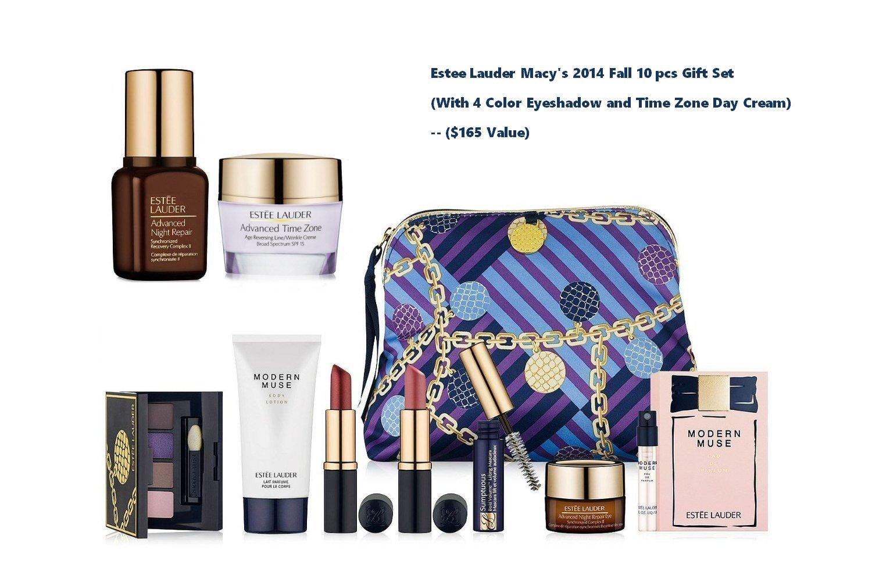 Amazon.com : Estee Lauder Macy's 2014 Fall 10 pcs Gift Set (eyedhaow and time zone) -- $165 Value : Beauty