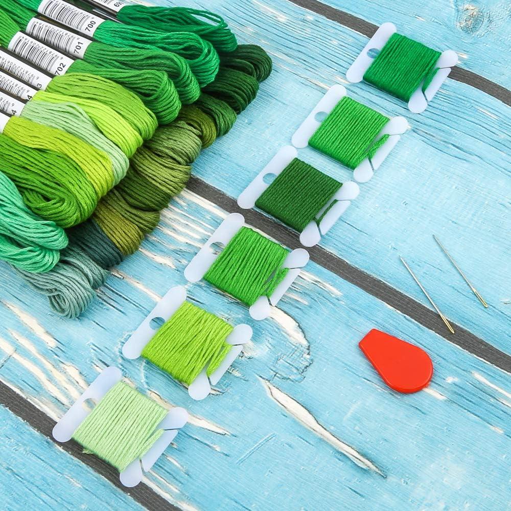 Grünes-Garn-Für-Sticken-Stickerei
