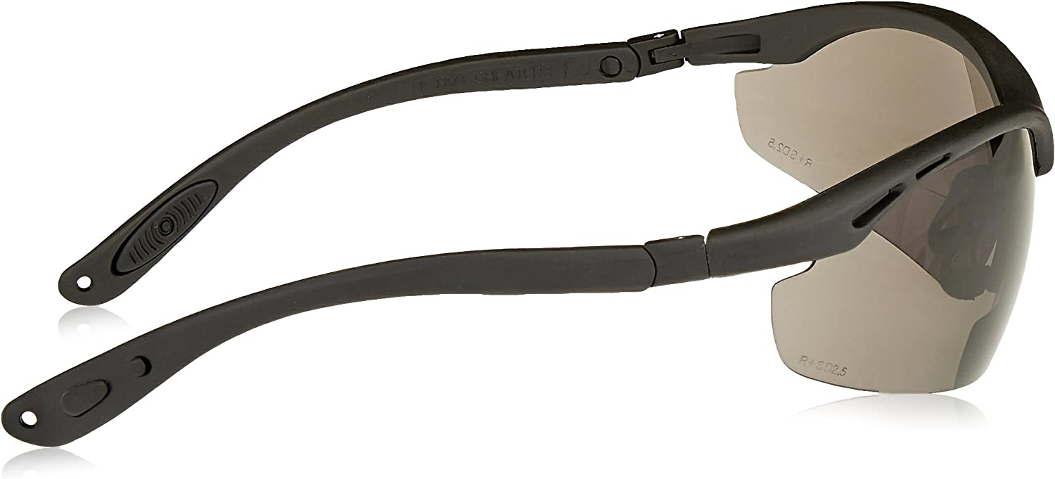 Radians CH1-225 Cheaters Nylon Frame Reading Safety Glasses with Smoke 2.5 Lens