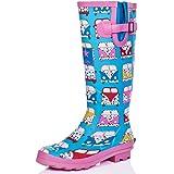 SPYLOVEBUY IGLOO Women's Adjustable Buckle Flat Festival Wellies Rain Boots